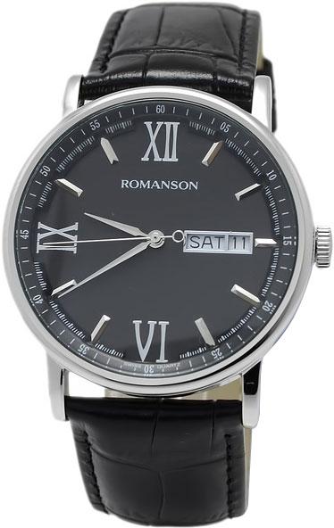 Мужские часы Romanson TL1275MW(BK)BK