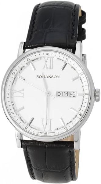 Мужские часы Romanson TL1275MW(WH)BK romanson tl 4201 mw wh bk