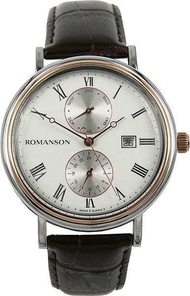 Мужские часы Romanson TL1276BMJ(WH)BN мужские часы romanson tl1256mr wh bn