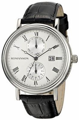 Мужские часы Romanson TL1276BMW(WH)BK цена и фото