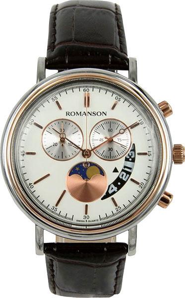 Мужские часы Romanson TL1276HMJ(WH)BN мужские часы romanson tl1256mg wh bn