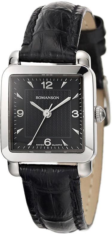 Женские часы Romanson TL1579DLW(BK) romanson часы romanson tl0110slw bk коллекция adel