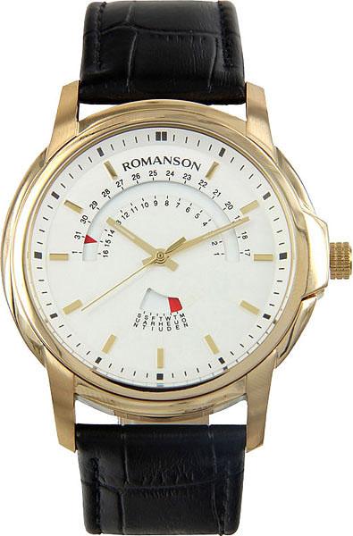 Мужские часы Romanson TL2631CMG(WH)BK