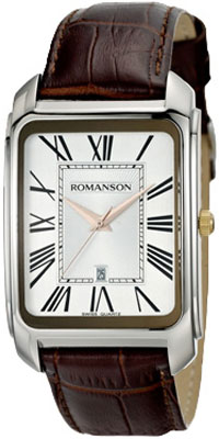 Мужские часы Romanson TL2632MJ(WH)BN romanson tl 9214 mj wh