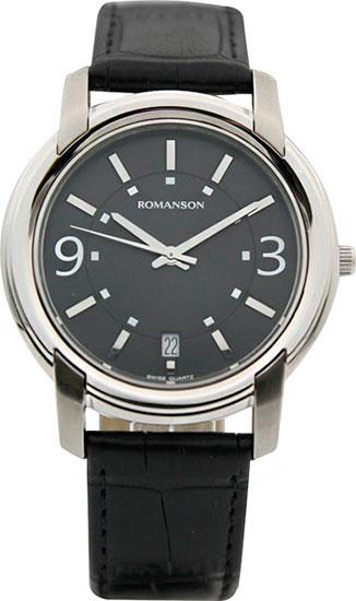 лучшая цена Мужские часы Romanson TL2654MW(BK)BK