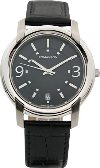 Мужские часы Romanson TL2654MW(BK)BK