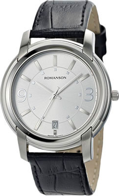 лучшая цена Мужские часы Romanson TL2654MW(WH)BK
