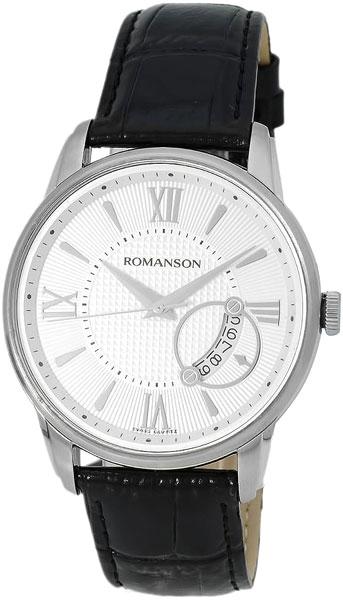 Мужские часы Romanson TL3205MW(WH)BK romanson tl 4201 mw wh bk