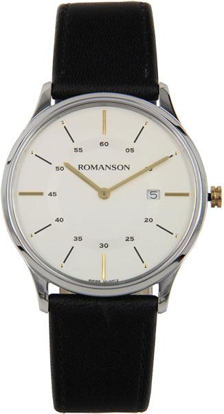 Мужские часы Romanson TL3218MC(WH)BK цена 2017