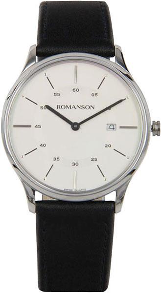 Мужские часы Romanson TL3218MW(WH)BK romanson tl 4201 mw wh bk