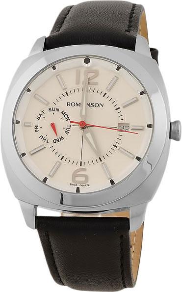 Мужские часы Romanson TL3220FMW(WH)BK цена 2017