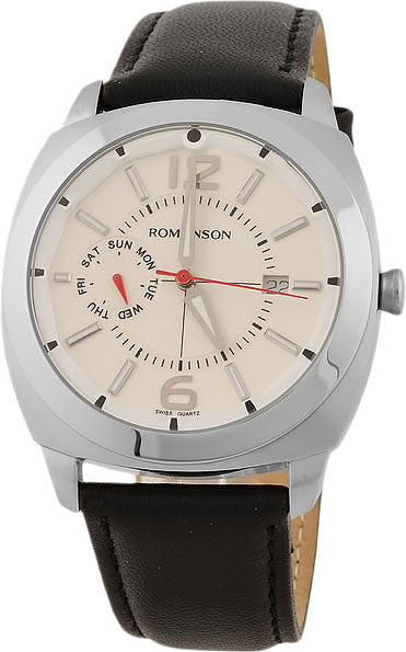 Мужские часы Romanson TL3220FMW(WH)BK цена и фото
