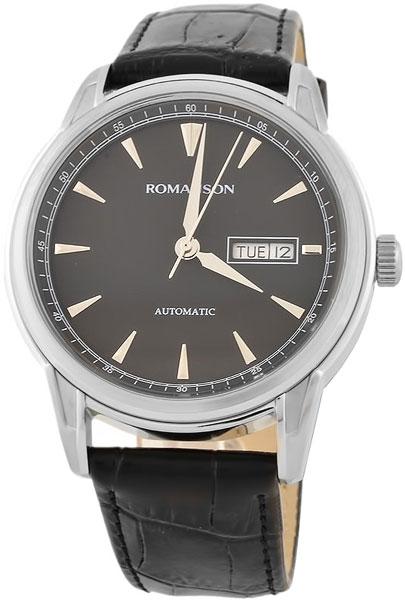 Мужские часы Romanson TL3223RMW(BK)BK u7 2016 новая мода силиконовая и нержавеющая сталь браслет мужчины изделий 18k позолоченный браслеты