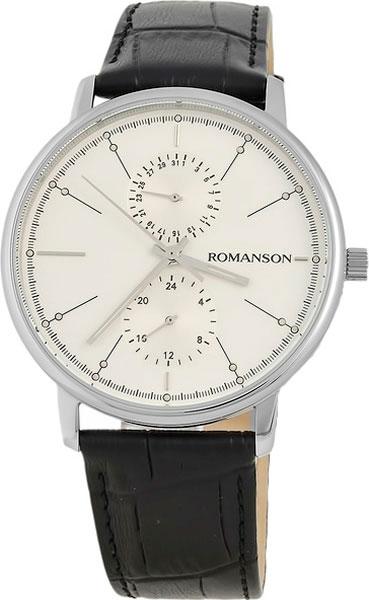 Мужские часы Romanson TL3236FMW(WH)BK цена и фото
