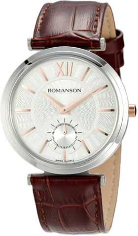 лучшая цена Мужские часы Romanson TL3238JMJ(WH)BN