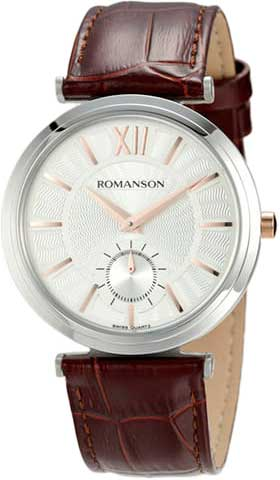 Мужские часы Romanson TL3238JMJ(WH)BN romanson romanson tl 2654 mr bk d bn