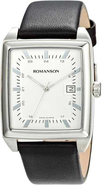Мужские часы Romanson TL3248MW(WH)BK romanson tl 4201 mw wh bk