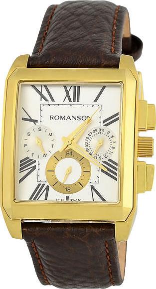 цена Мужские часы Romanson TL3250FMG(WH)BN онлайн в 2017 году