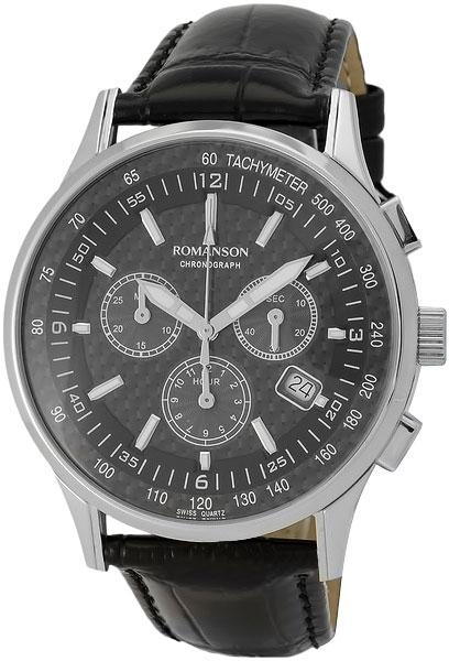 Мужские часы Romanson TL4131HMW(BK) romanson часы romanson tl0110slw bk коллекция adel