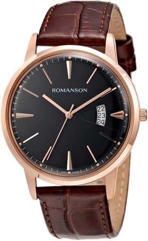 Мужские часы Romanson TL4201MR(BK)BN romanson tl 4201 mw wh bk
