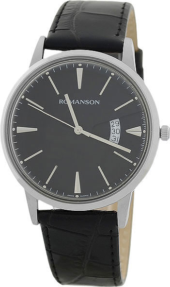 Мужские часы Romanson TL4201MW(BK)BK romanson tl 4201 mw wh bk