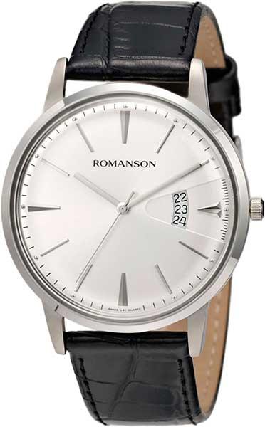 Мужские часы Romanson TL4201MW(WH)BK romanson tl 4201 mw wh bk