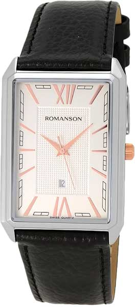 Мужские часы Romanson TL4206MJ(WH)BK romanson tl 9214 mj wh