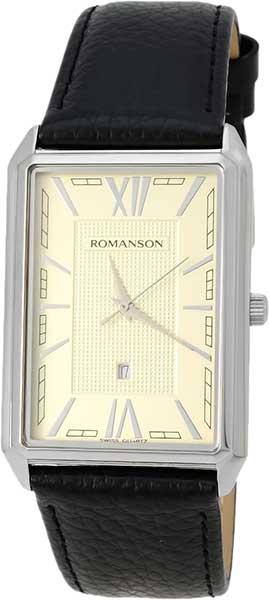 цена Мужские часы Romanson TL4206MW(IV)BK онлайн в 2017 году