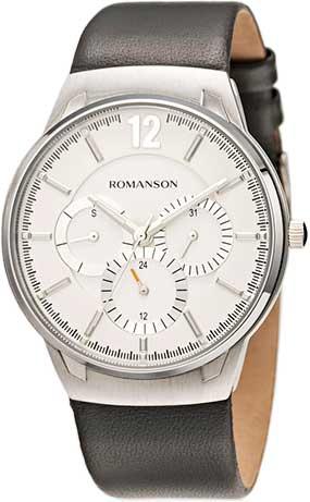 цена Мужские часы Romanson TL4209FMW(WH)GR онлайн в 2017 году