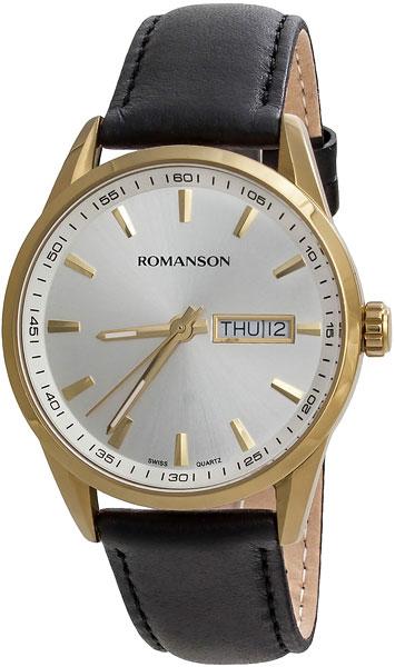 Мужские часы Romanson TL4241MG(WH) дизайн панков турецкий браслеты для глаз для мужчин женщины новая мода браслет женский сова кожаный браслет камень
