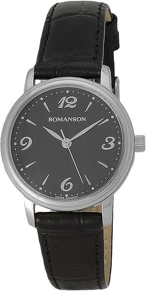Женские часы Romanson TL4259LW(BK) romanson tl 1579d lw bk