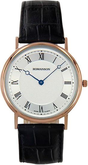 Мужские часы Romanson TL5110SMR(WH) romanson tm 9248 mj wh