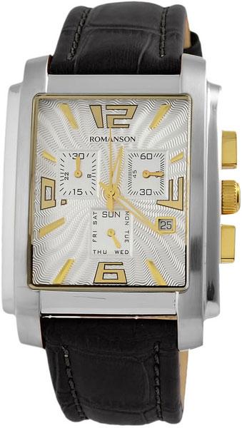 Мужские часы Romanson TL5140HMC(WH) romanson часы romanson tm8154cmr wh коллекция adel