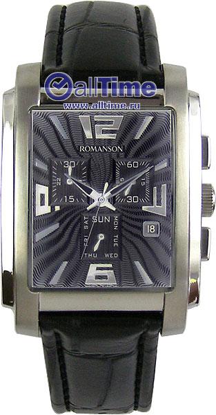 Мужские часы Romanson TL5140HMW(BK) romanson часы romanson tl0110slw bk коллекция adel