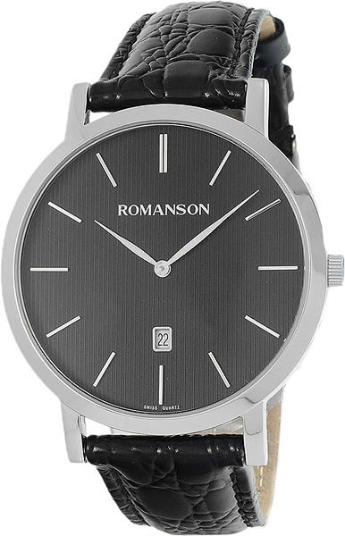 лучшая цена Мужские часы Romanson TL5507CXW(BK)