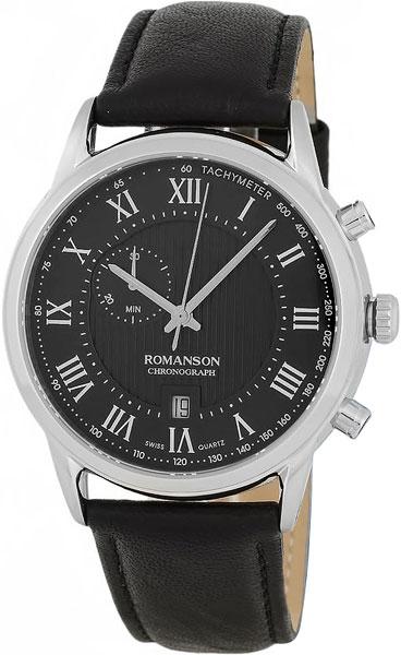 лучшая цена Мужские часы Romanson TL5A22HMW(BK)
