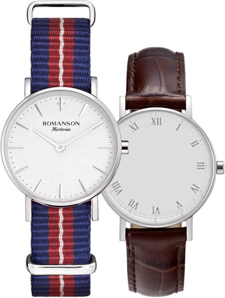 Женские часы Romanson TL6A30LLW(WH)BU umbra 6 3х4 см qualy ql10185wh wh bu