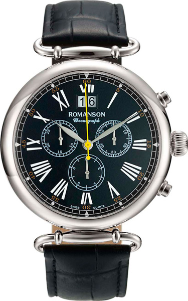 Мужские часы Romanson TL7A13HMW(BK)
