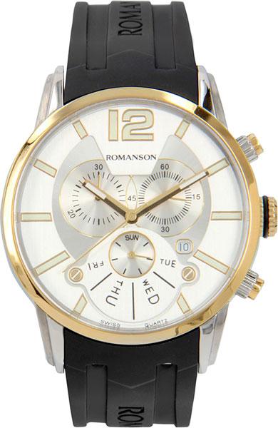 лучшая цена Мужские часы Romanson TL9213HMC(WH)