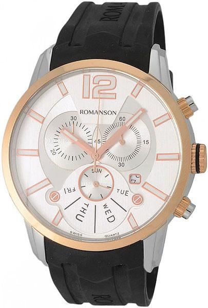 лучшая цена Мужские часы Romanson TL9213HMJ(WH)