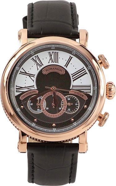 Мужские часы Romanson TL9220BMR(BK) romanson часы romanson tl0110slw bk коллекция adel