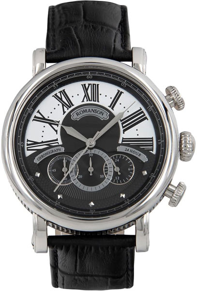 Мужские часы Romanson TL9220BMW(BK) romanson часы romanson tl0110slw bk коллекция adel
