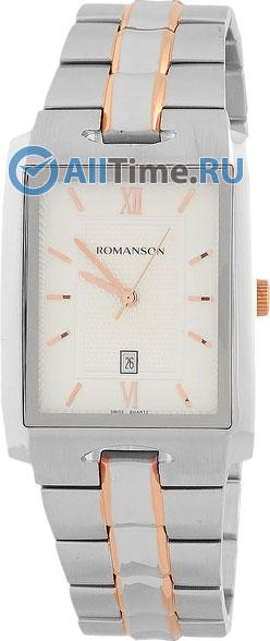 Мужские часы Romanson TM0186CXJ(WH) modelle ботинки modelle 0186 551 0205 кофе с молоком черный