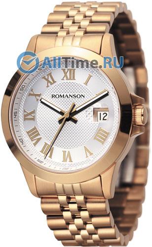 Мужские часы Romanson TM0361MR(WH) часы с увеличительным окном под календарь