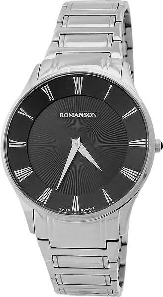 лучшая цена Мужские часы Romanson TM0389MW(BK)