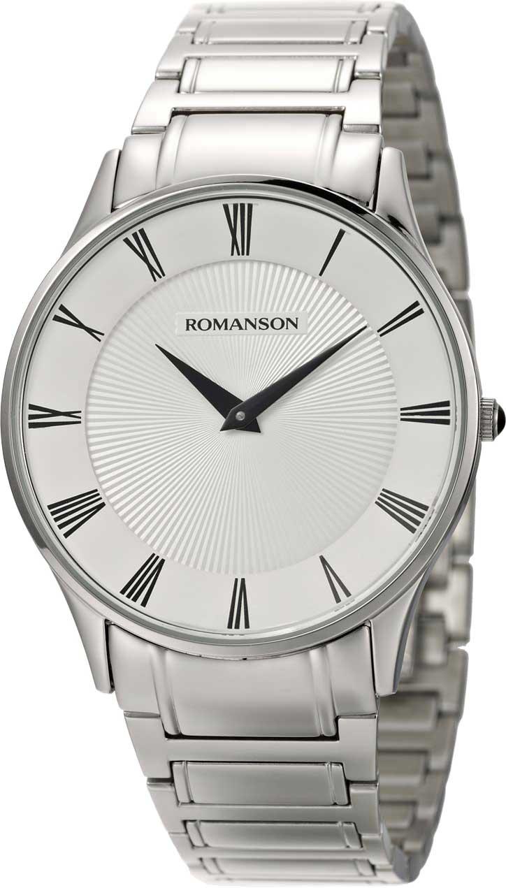 Мужские часы Romanson TM0389MW(WH) romanson tm 9248 mj wh