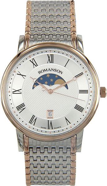 Мужские часы Romanson TM1274FMJ(WH) romanson tm 1274 mj wh