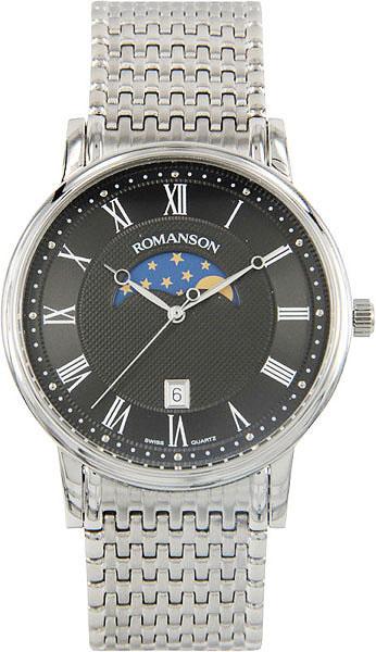 Мужские часы Romanson TM1274FMW(BK) romanson tm 1274 mw bk