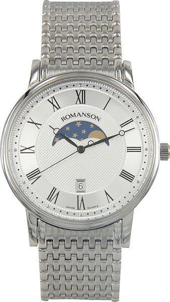 Мужские часы Romanson TM1274FMW(WH) romanson tm 9248 mj wh