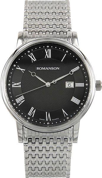 Мужские часы Romanson TM1274MW(BK) мужские часы romanson tl3250fmw bk bk